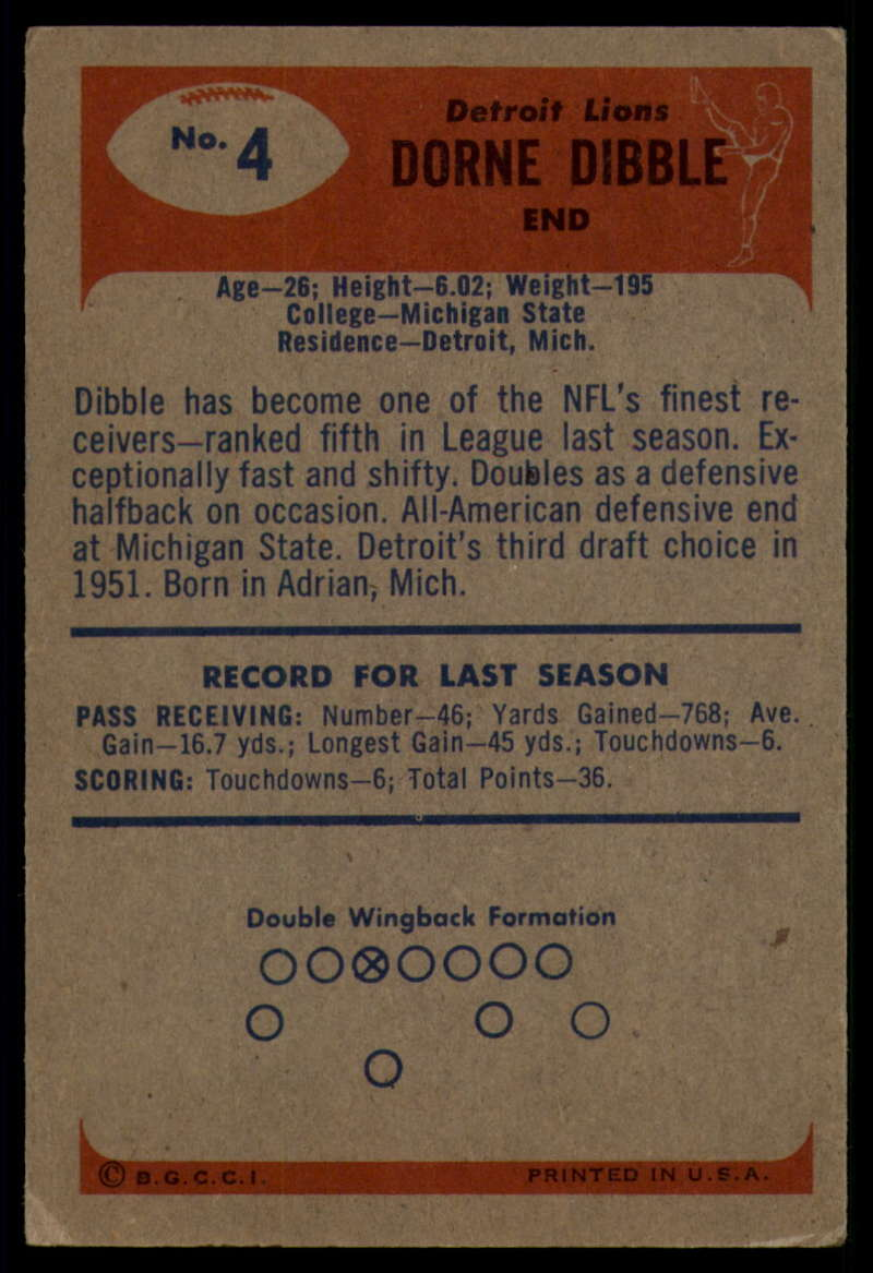 1955-Bowman-Football-1-70-Complete-your-set-Pick-your-card thumbnail 23
