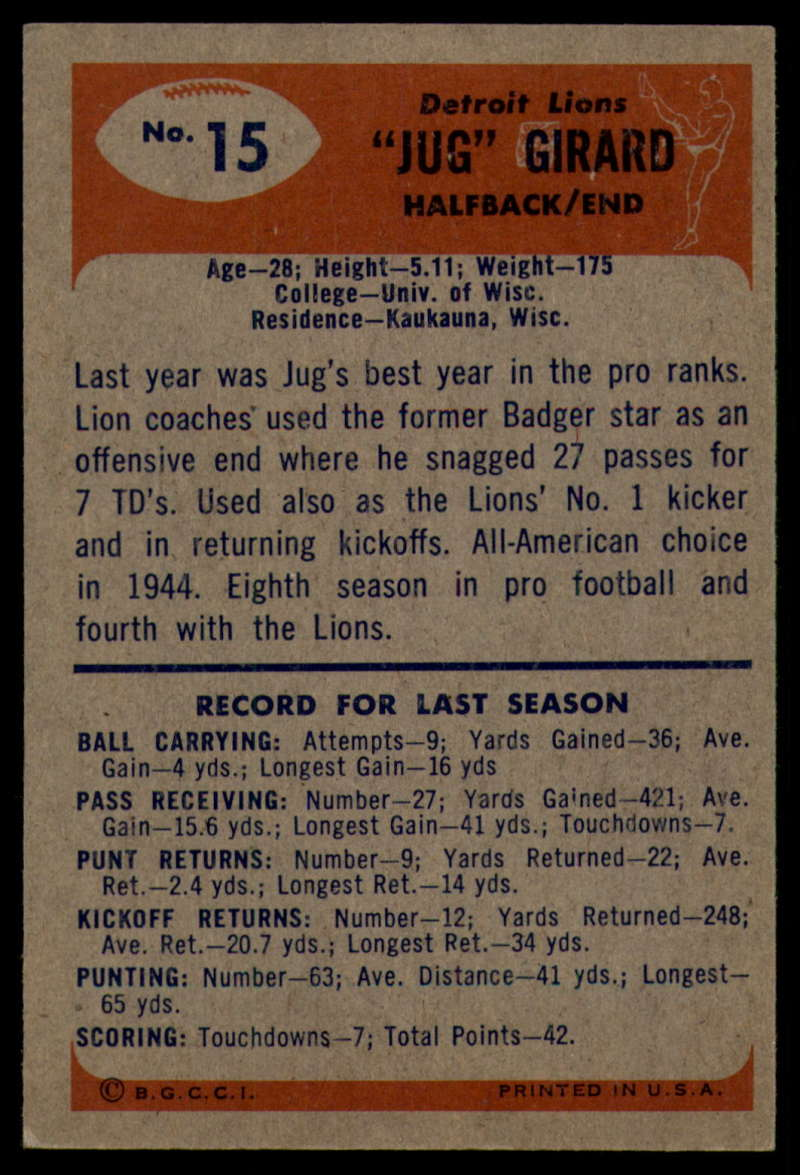 1955-Bowman-Football-1-70-Complete-your-set-Pick-your-card thumbnail 73