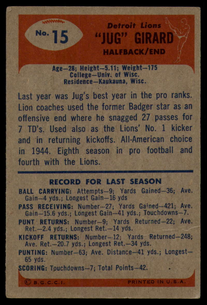 1955-Bowman-Football-1-70-Complete-your-set-Pick-your-card thumbnail 75