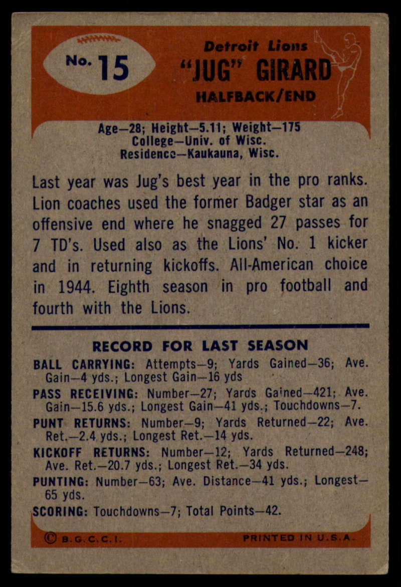 1955-Bowman-Football-1-70-Complete-your-set-Pick-your-card thumbnail 77