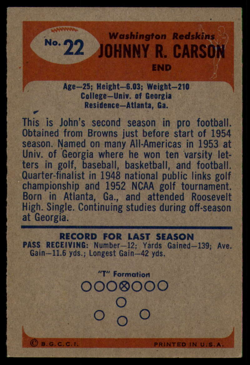 1955-Bowman-Football-1-70-Complete-your-set-Pick-your-card thumbnail 101