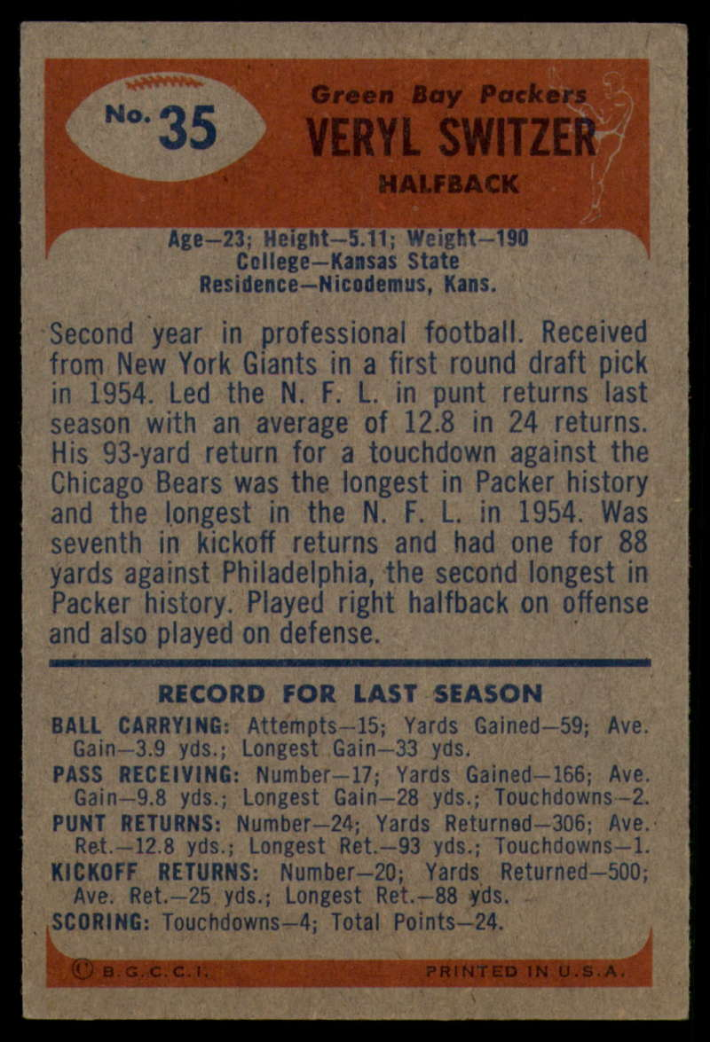 1955-Bowman-Football-1-70-Complete-your-set-Pick-your-card thumbnail 173