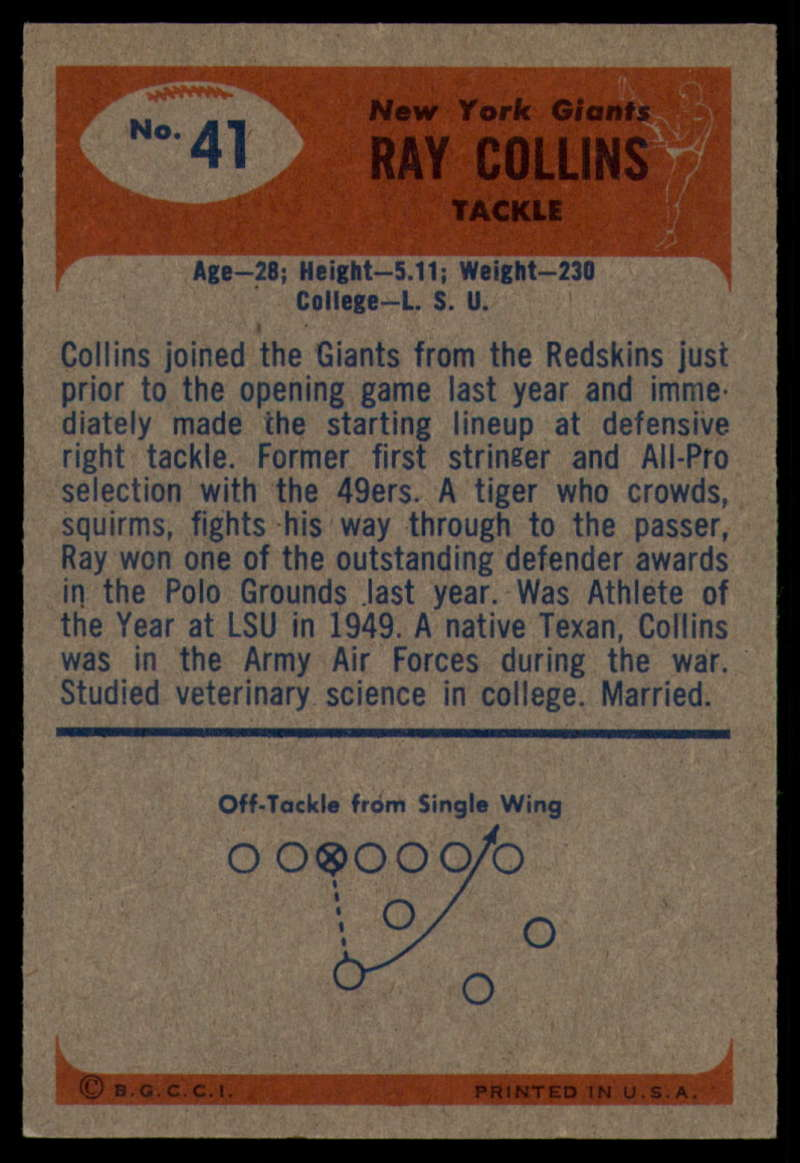 1955-Bowman-Football-1-70-Complete-your-set-Pick-your-card thumbnail 199