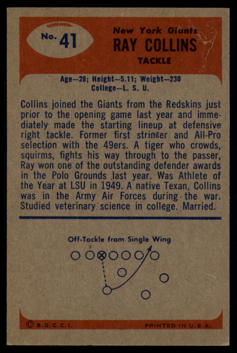 1955-Bowman-Football-1-70-Complete-your-set-Pick-your-card thumbnail 201