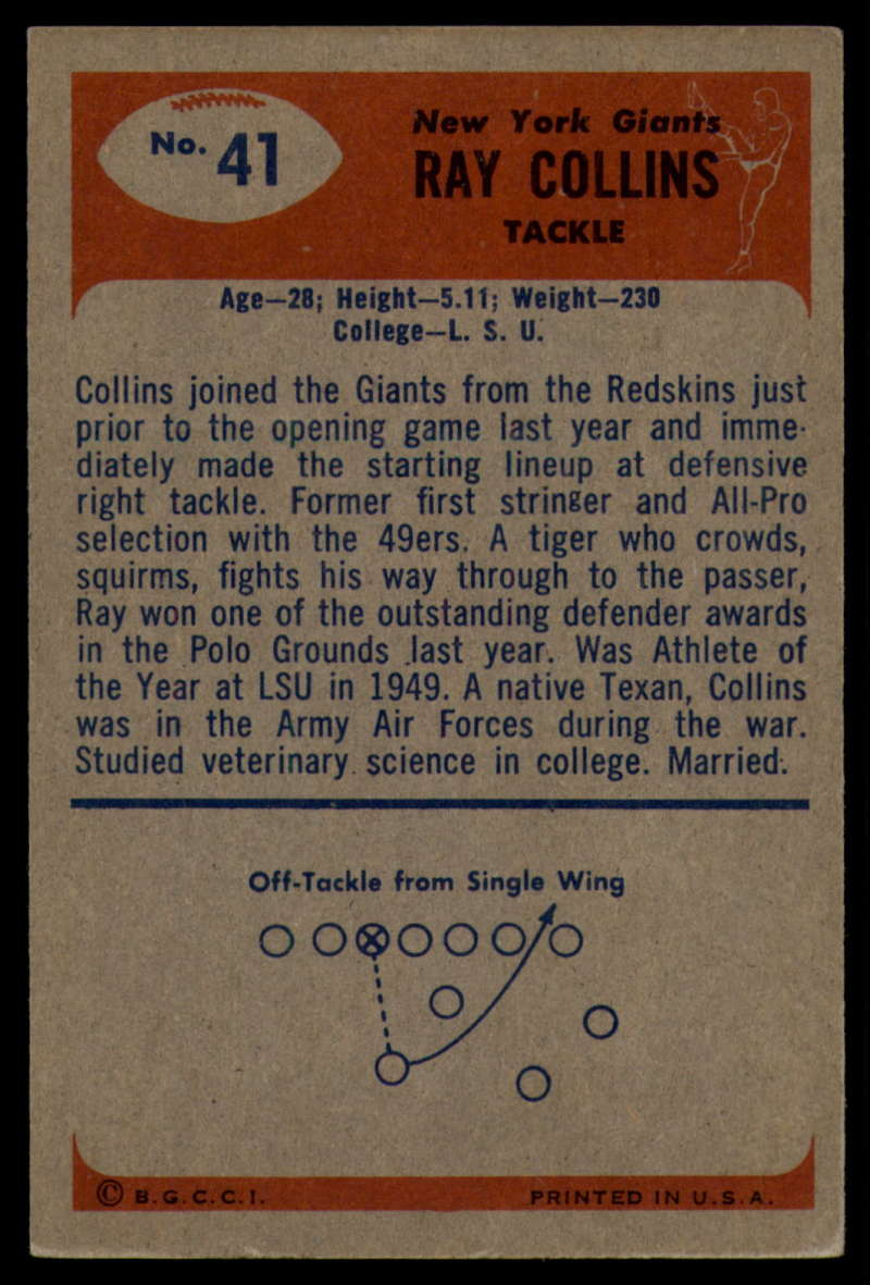 1955-Bowman-Football-1-70-Complete-your-set-Pick-your-card thumbnail 205