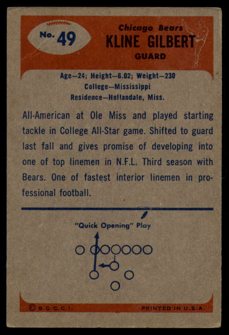 1955-Bowman-Football-1-70-Complete-your-set-Pick-your-card thumbnail 257