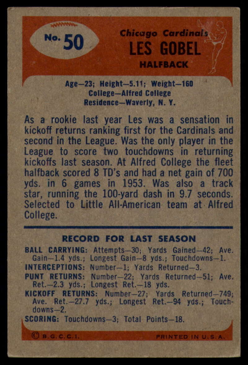 1955-Bowman-Football-1-70-Complete-your-set-Pick-your-card thumbnail 261