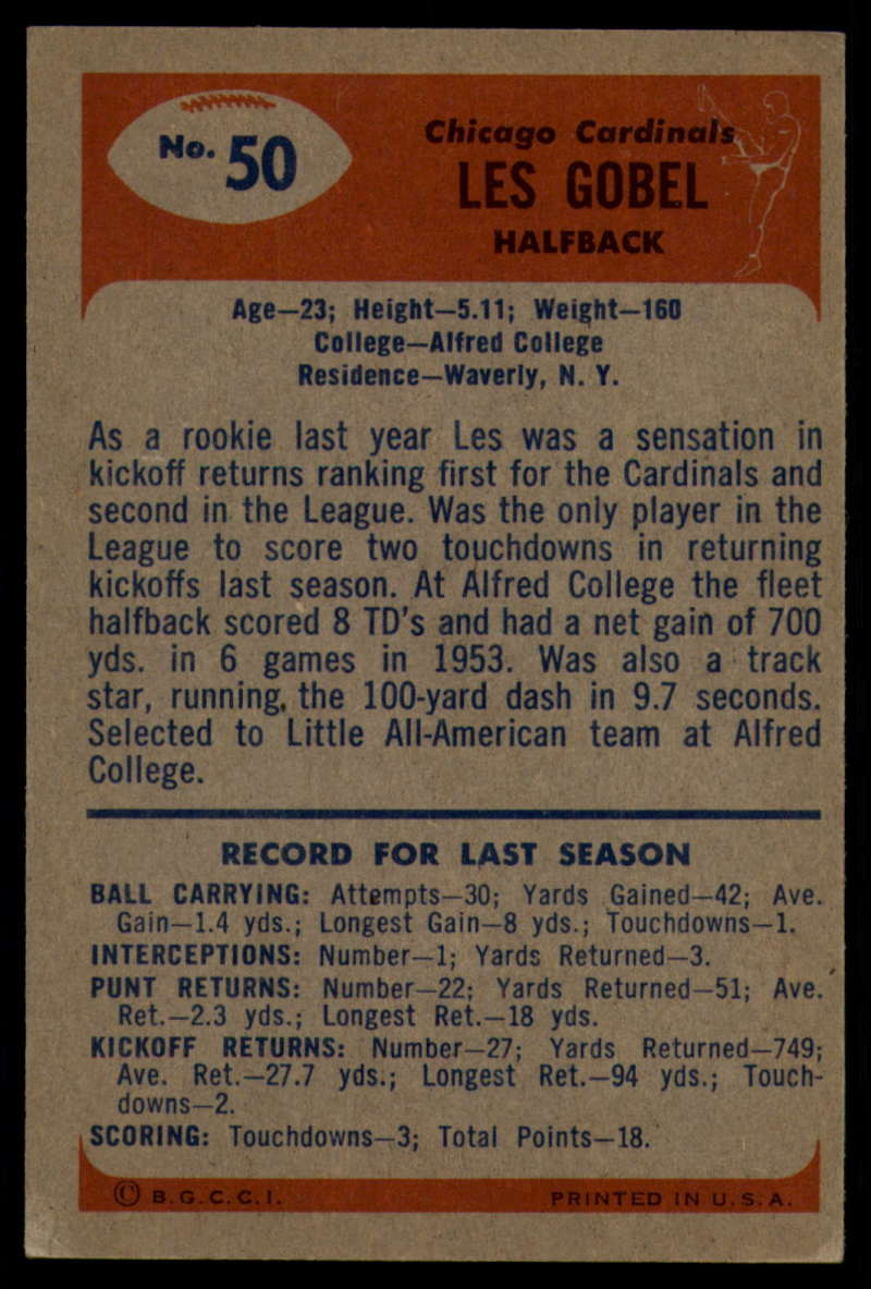 1955-Bowman-Football-1-70-Complete-your-set-Pick-your-card thumbnail 263