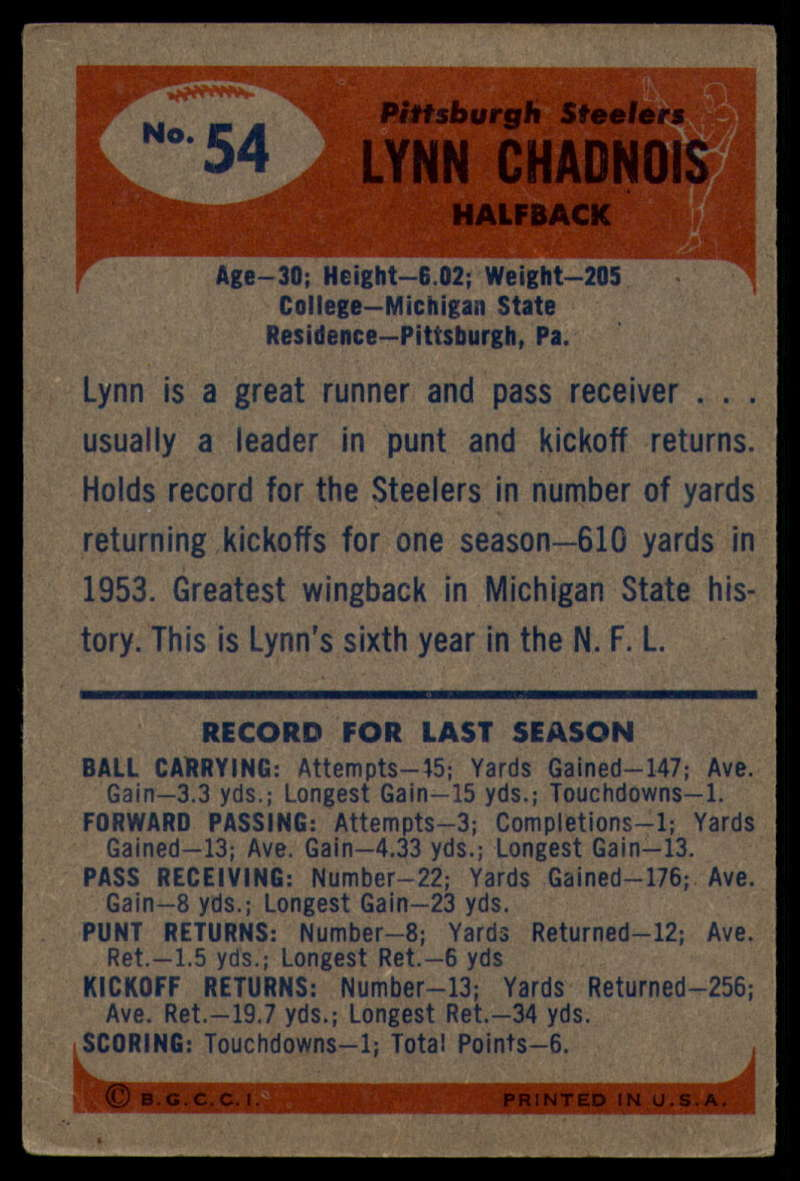 1955-Bowman-Football-1-70-Complete-your-set-Pick-your-card thumbnail 281