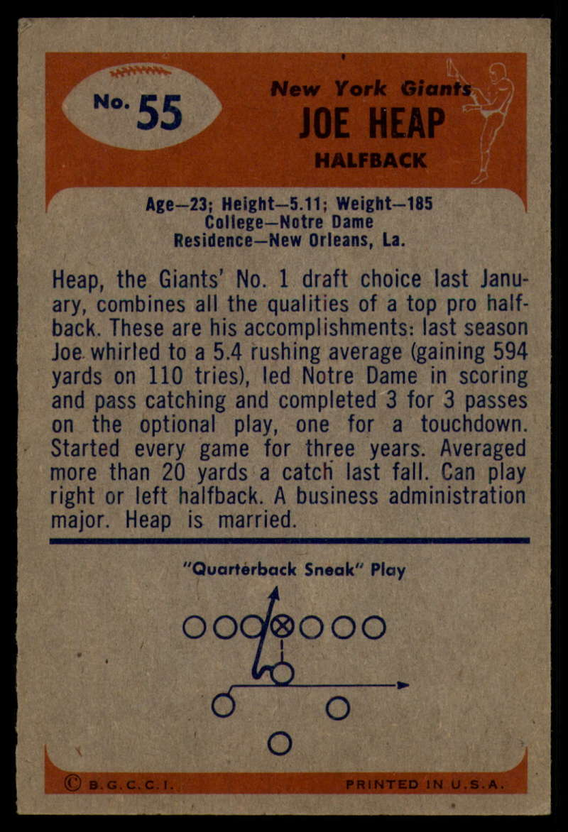 1955-Bowman-Football-1-70-Complete-your-set-Pick-your-card thumbnail 283
