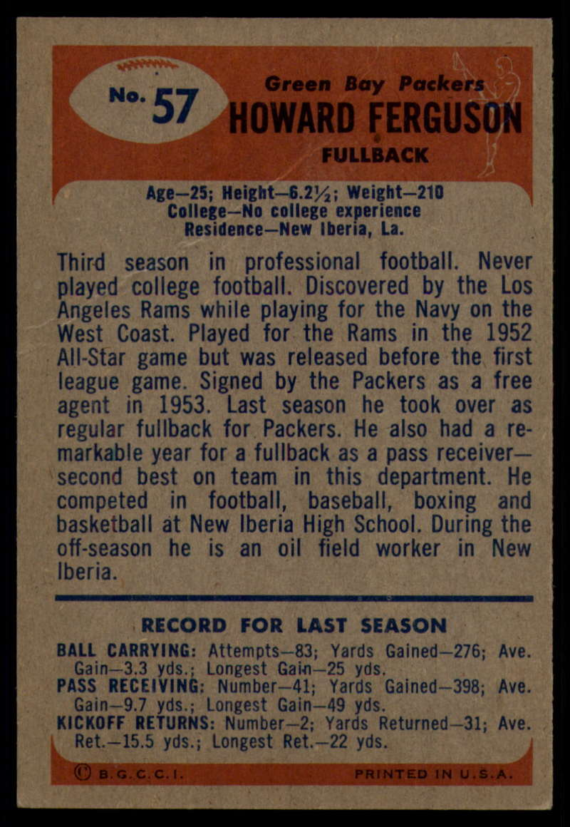 1955-Bowman-Football-1-70-Complete-your-set-Pick-your-card thumbnail 297