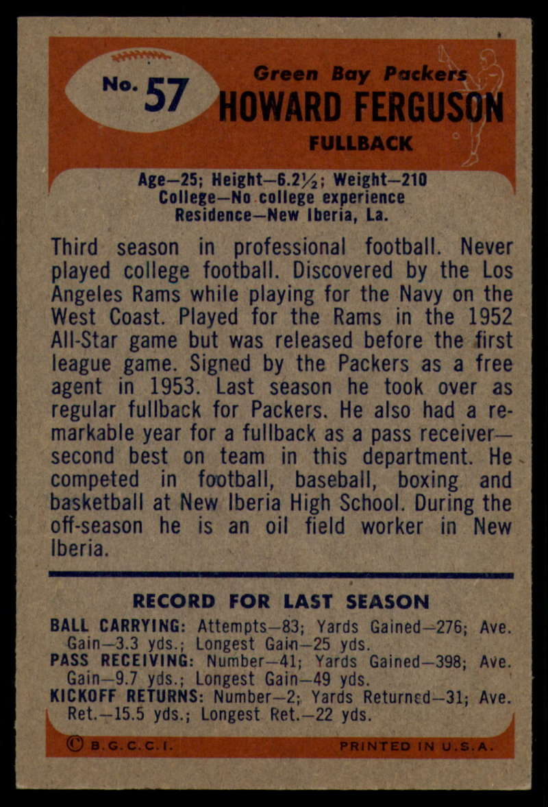 1955-Bowman-Football-1-70-Complete-your-set-Pick-your-card thumbnail 301
