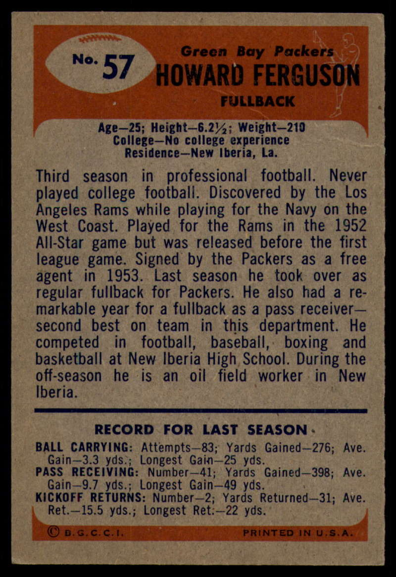 1955-Bowman-Football-1-70-Complete-your-set-Pick-your-card thumbnail 303