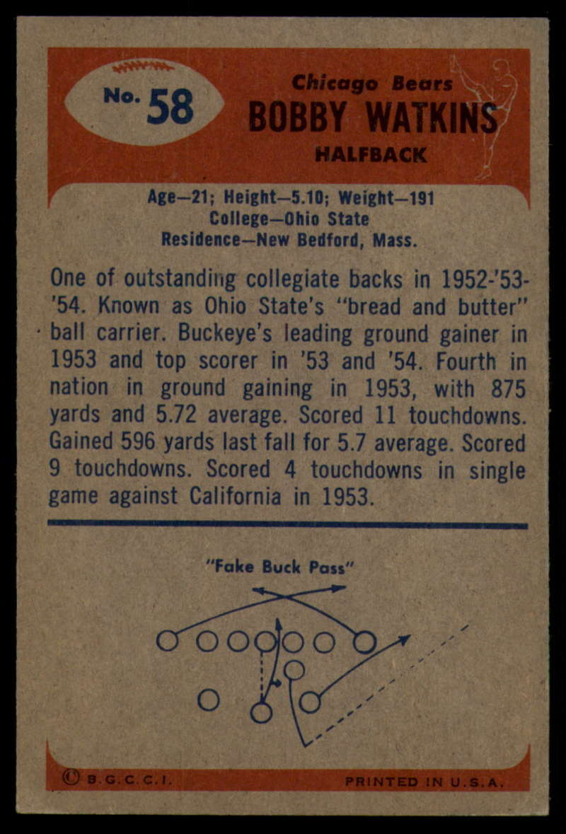 1955-Bowman-Football-1-70-Complete-your-set-Pick-your-card thumbnail 309