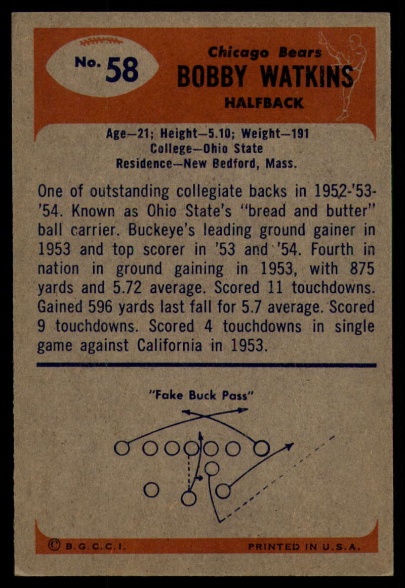 1955-Bowman-Football-1-70-Complete-your-set-Pick-your-card thumbnail 311