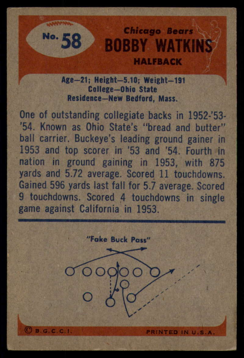 1955-Bowman-Football-1-70-Complete-your-set-Pick-your-card thumbnail 313
