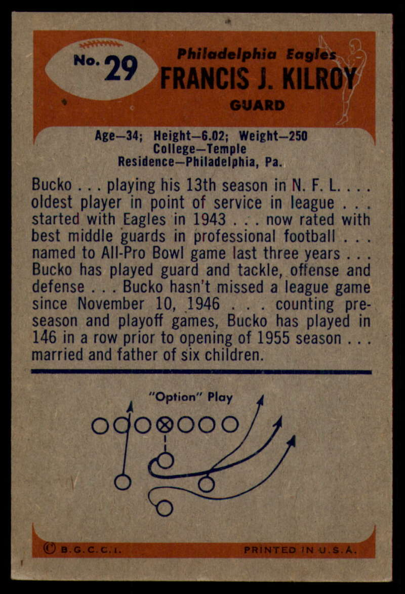 1955-Bowman-Football-1-70-Complete-your-set-Pick-your-card thumbnail 145
