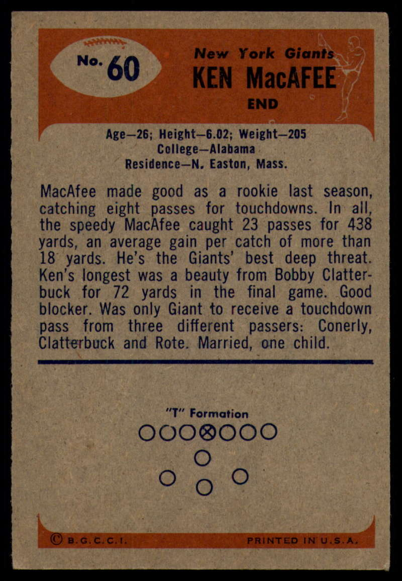 1955-Bowman-Football-1-70-Complete-your-set-Pick-your-card thumbnail 325