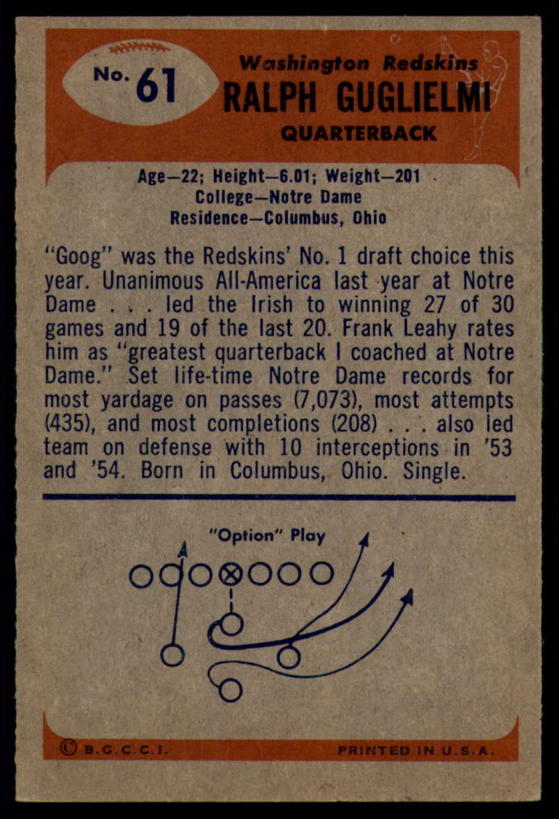 1955-Bowman-Football-1-70-Complete-your-set-Pick-your-card thumbnail 333