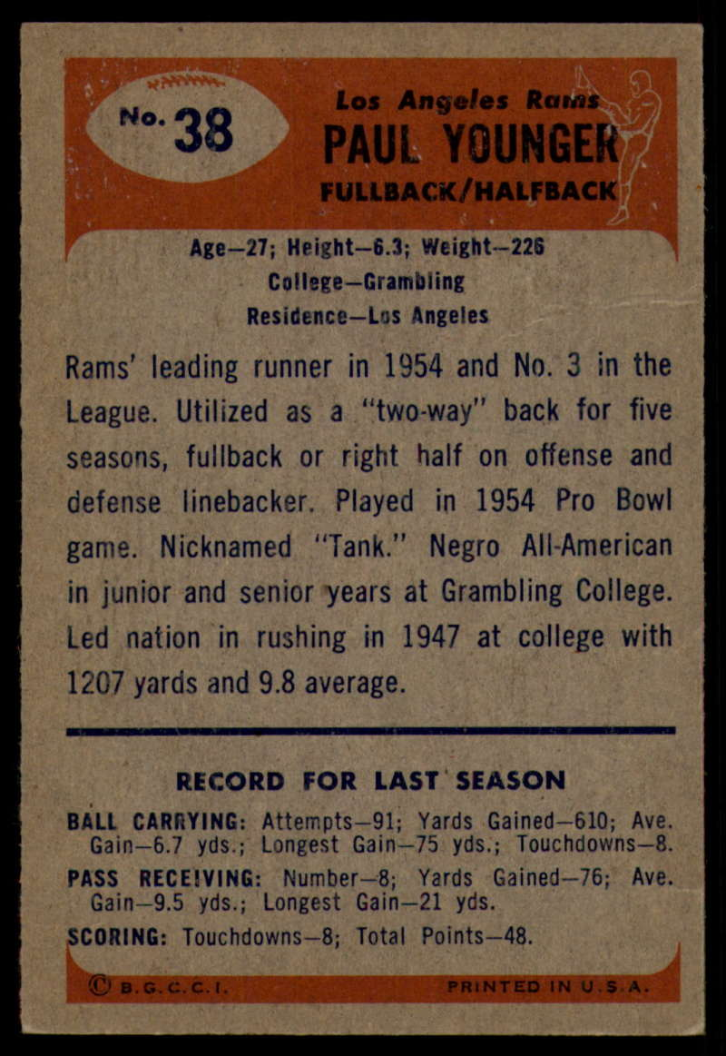1955-Bowman-Football-1-70-Complete-your-set-Pick-your-card thumbnail 181