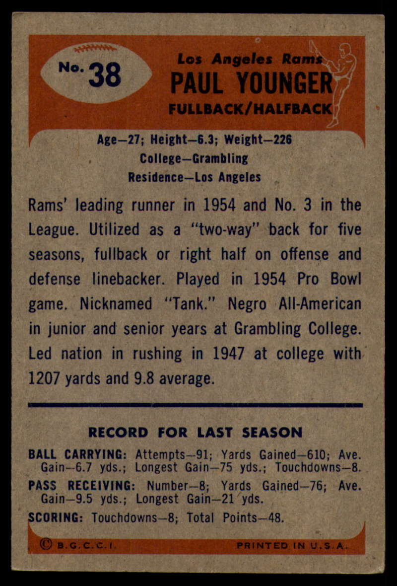 1955-Bowman-Football-1-70-Complete-your-set-Pick-your-card thumbnail 183
