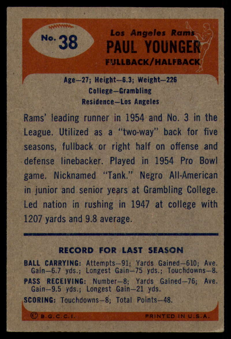 1955-Bowman-Football-1-70-Complete-your-set-Pick-your-card thumbnail 185