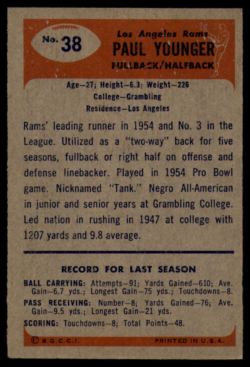 1955-Bowman-Football-1-70-Complete-your-set-Pick-your-card thumbnail 187