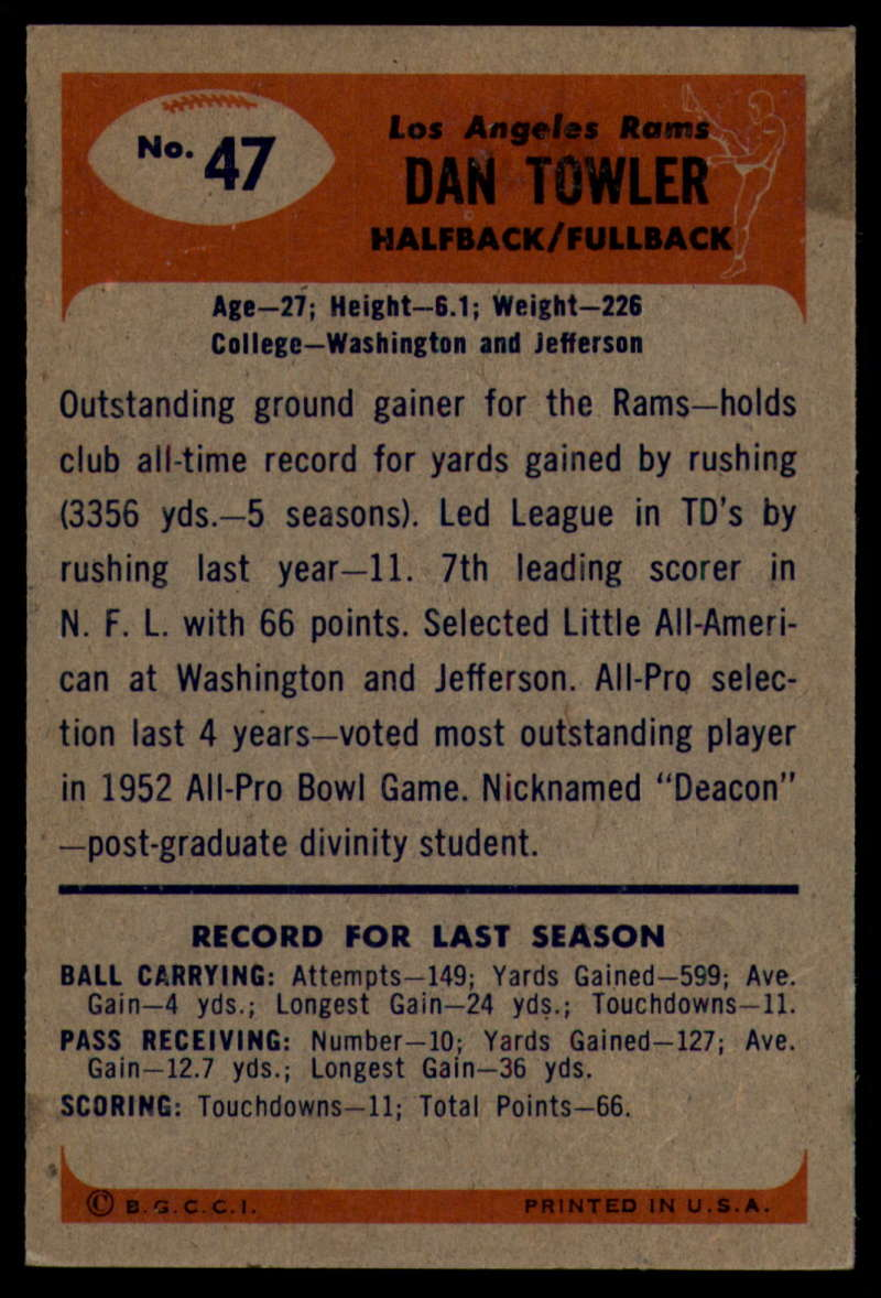 1955-Bowman-Football-1-70-Complete-your-set-Pick-your-card thumbnail 245