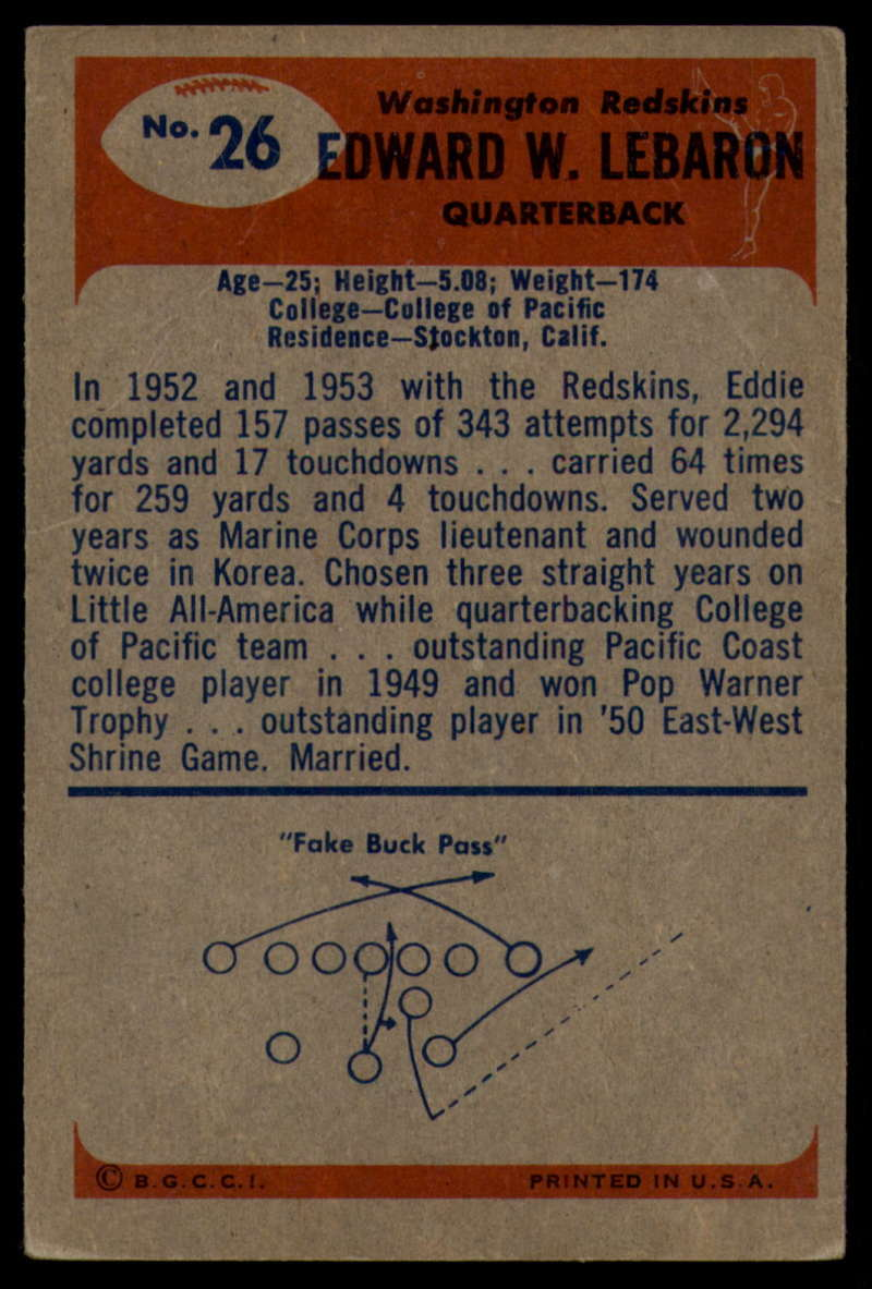 1955-Bowman-Football-1-70-Complete-your-set-Pick-your-card thumbnail 127