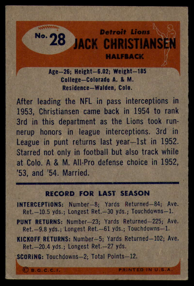 1955-Bowman-Football-1-70-Complete-your-set-Pick-your-card thumbnail 143
