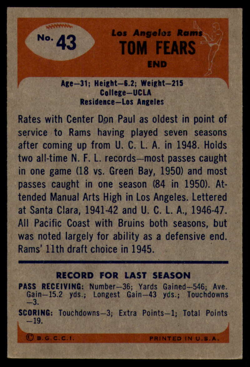 1955-Bowman-Football-1-70-Complete-your-set-Pick-your-card thumbnail 211