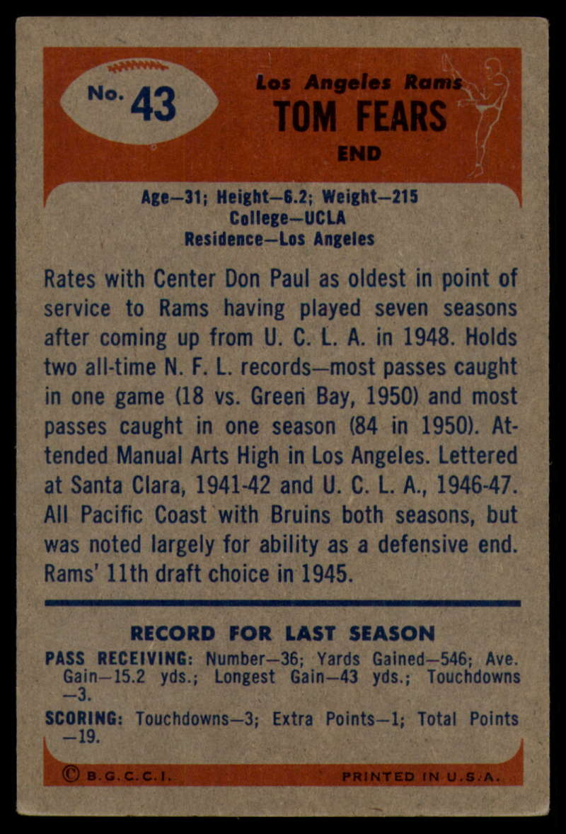 1955-Bowman-Football-1-70-Complete-your-set-Pick-your-card thumbnail 213