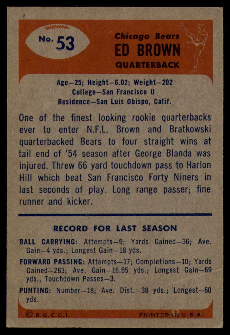 1955-Bowman-Football-1-70-Complete-your-set-Pick-your-card thumbnail 277