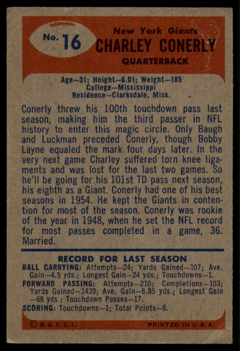1955-Bowman-Football-1-70-Complete-your-set-Pick-your-card thumbnail 79