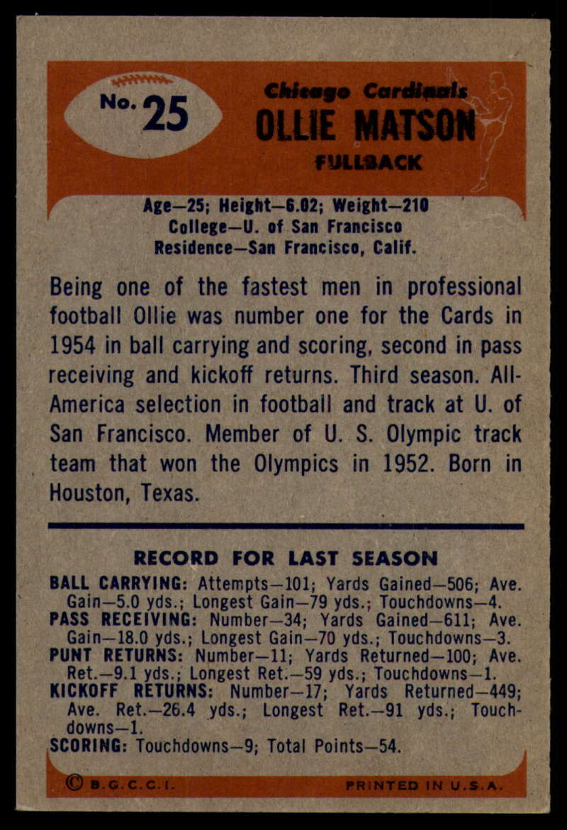 1955-Bowman-Football-1-70-Complete-your-set-Pick-your-card thumbnail 117