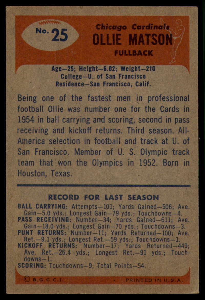 1955-Bowman-Football-1-70-Complete-your-set-Pick-your-card thumbnail 119