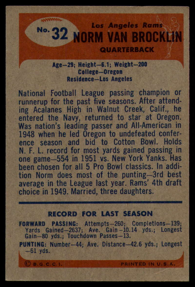 1955-Bowman-Football-1-70-Complete-your-set-Pick-your-card thumbnail 161