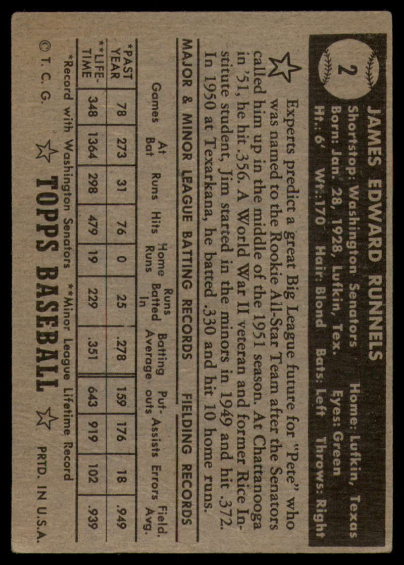 1952-Topps-Baseball-Black-Back-1-45-Complete-your-set-Pick-your-card thumbnail 7