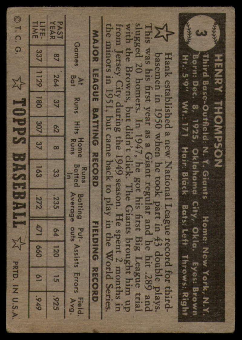 1952-Topps-Baseball-Black-Back-1-45-Complete-your-set-Pick-your-card thumbnail 15