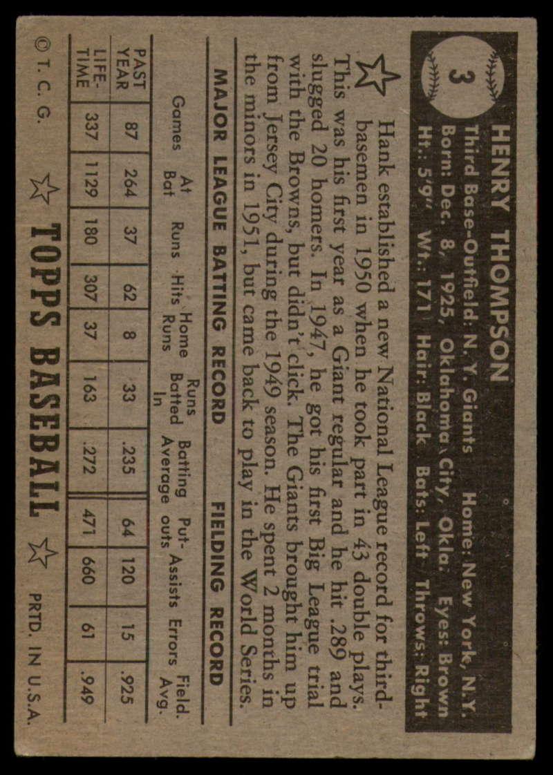 1952-Topps-Baseball-Black-Back-1-45-Complete-your-set-Pick-your-card thumbnail 17