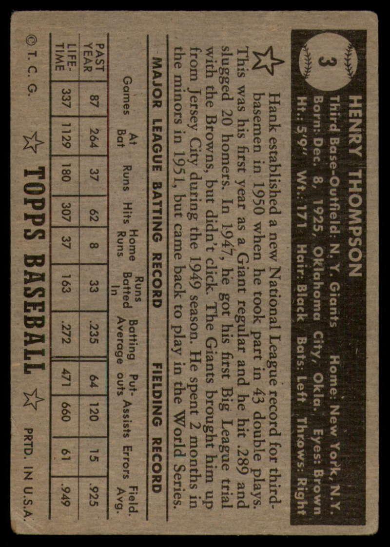 1952-Topps-Baseball-Black-Back-1-45-Complete-your-set-Pick-your-card thumbnail 19