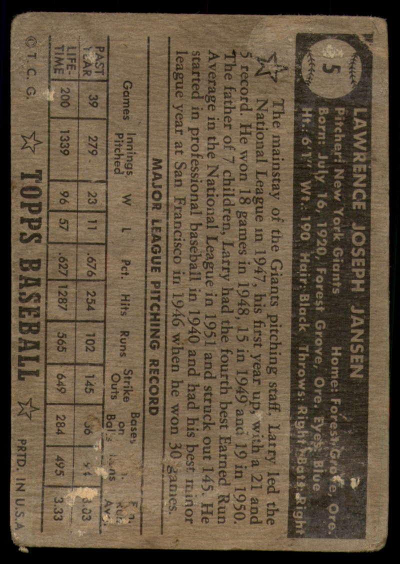 1952-Topps-Baseball-Black-Back-1-45-Complete-your-set-Pick-your-card thumbnail 27