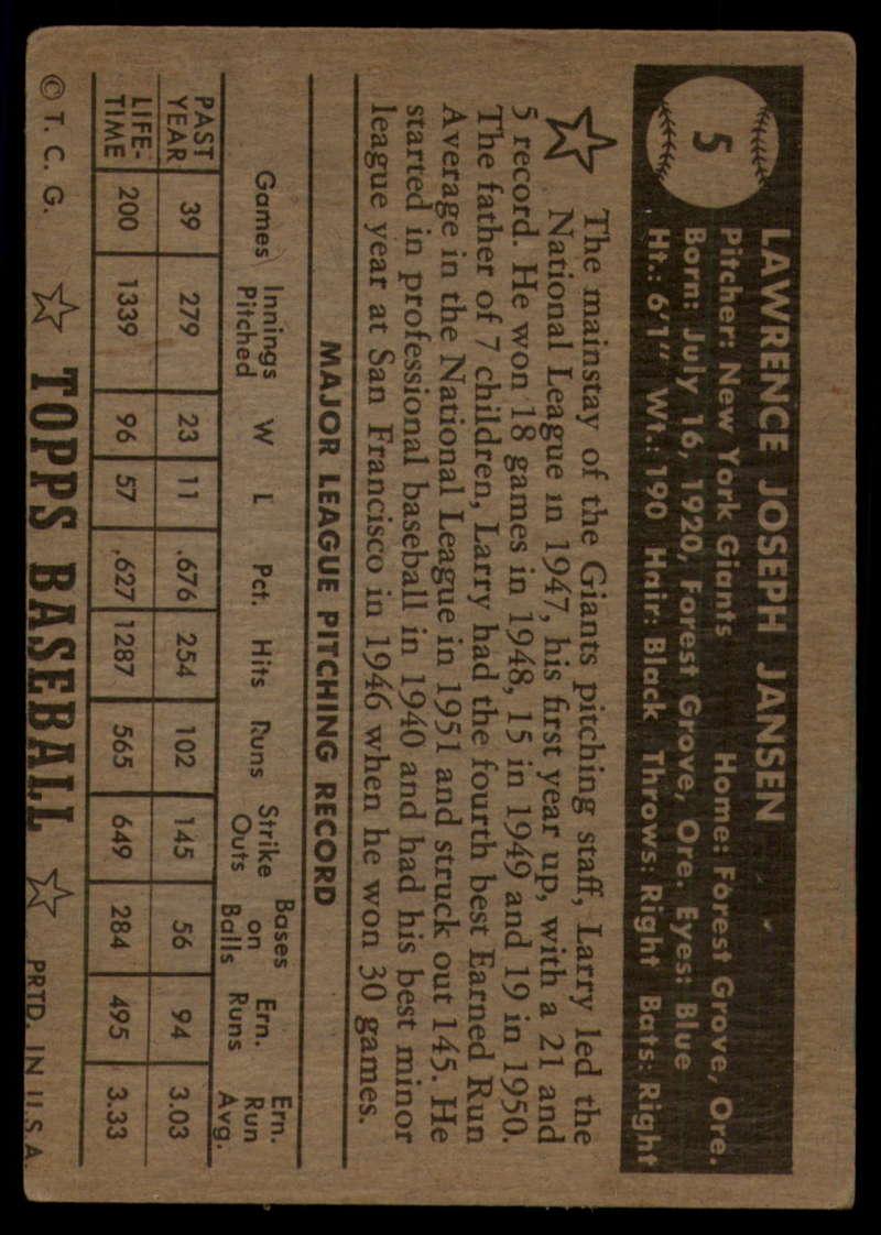 1952-Topps-Baseball-Black-Back-1-45-Complete-your-set-Pick-your-card thumbnail 29