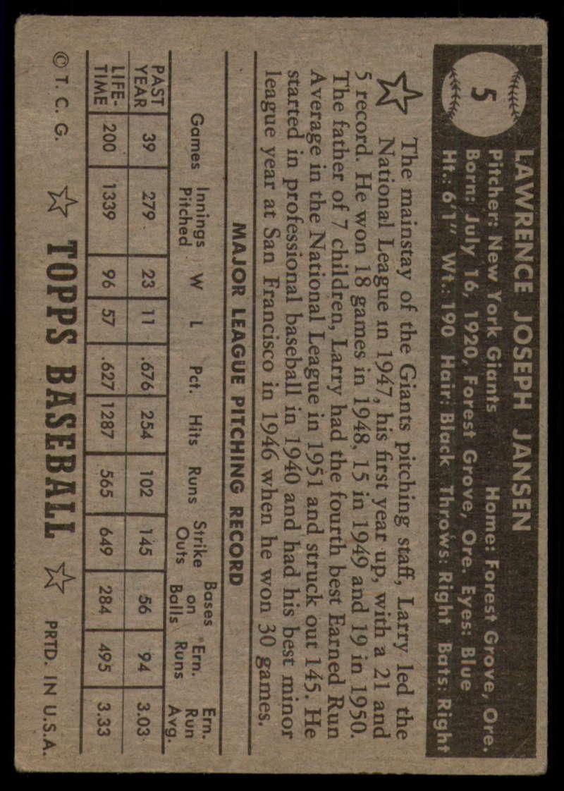 1952-Topps-Baseball-Black-Back-1-45-Complete-your-set-Pick-your-card thumbnail 31