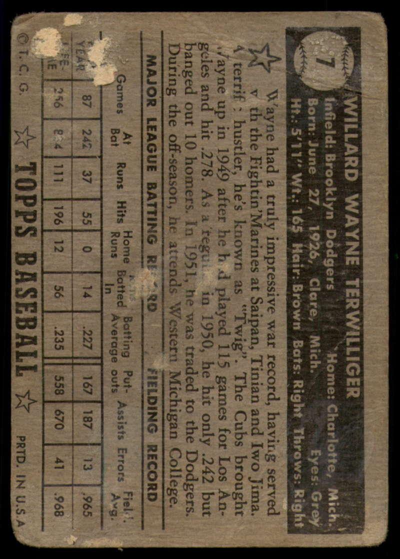 1952-Topps-Baseball-Black-Back-1-45-Complete-your-set-Pick-your-card thumbnail 45