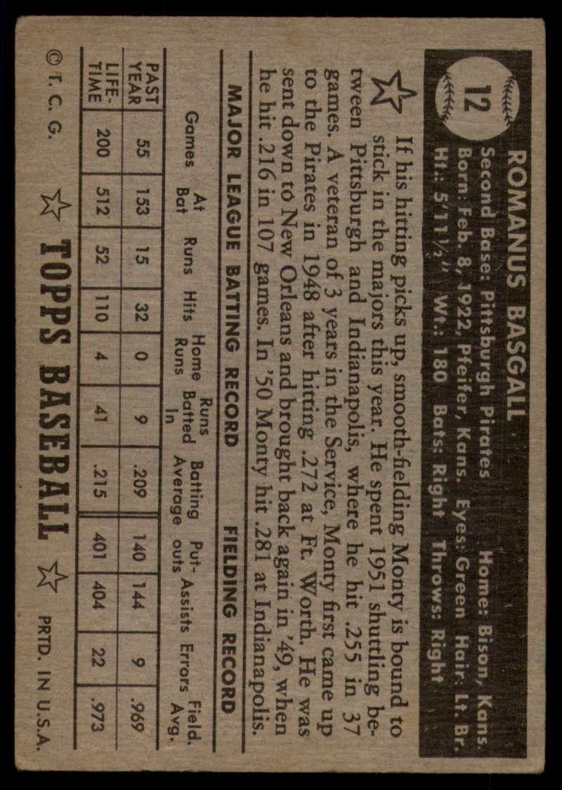 1952-Topps-Baseball-Black-Back-1-45-Complete-your-set-Pick-your-card thumbnail 49