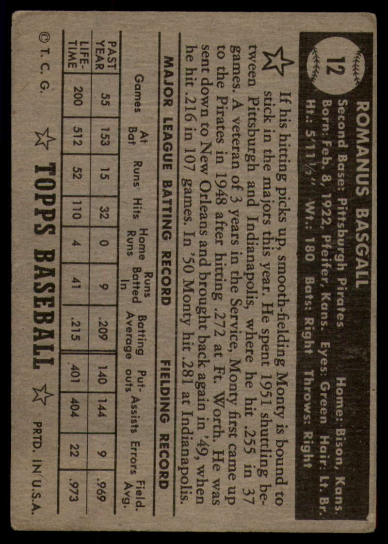 1952-Topps-Baseball-Black-Back-1-45-Complete-your-set-Pick-your-card thumbnail 51