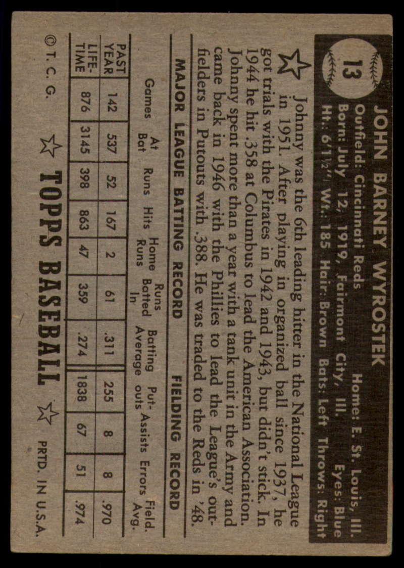 1952-Topps-Baseball-Black-Back-1-45-Complete-your-set-Pick-your-card thumbnail 53
