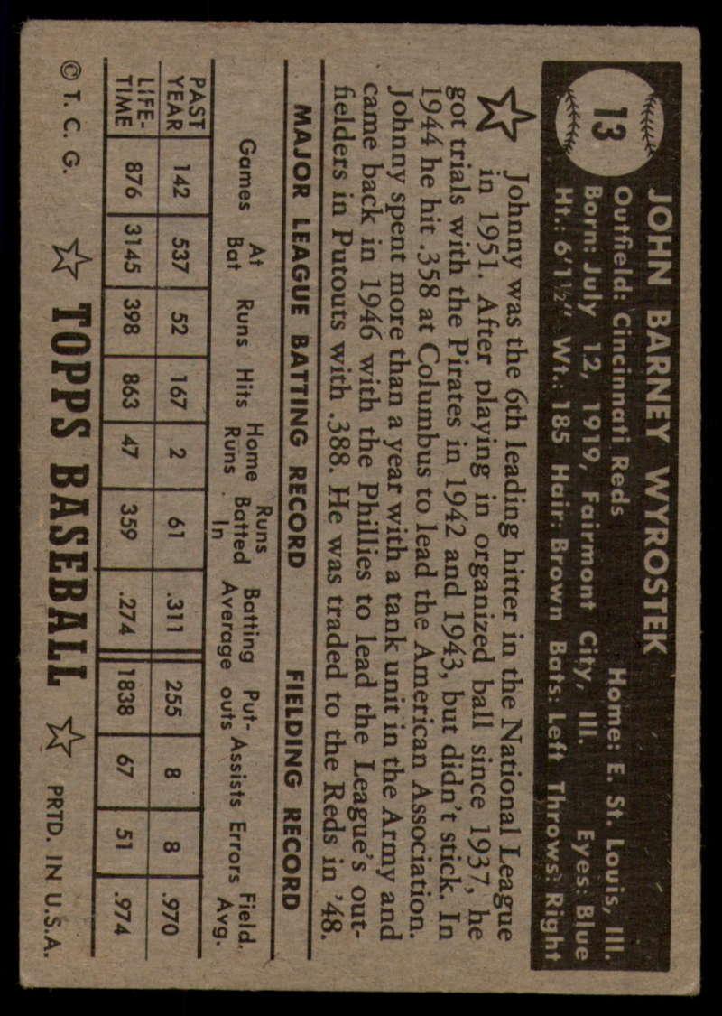 1952-Topps-Baseball-Black-Back-1-45-Complete-your-set-Pick-your-card thumbnail 59