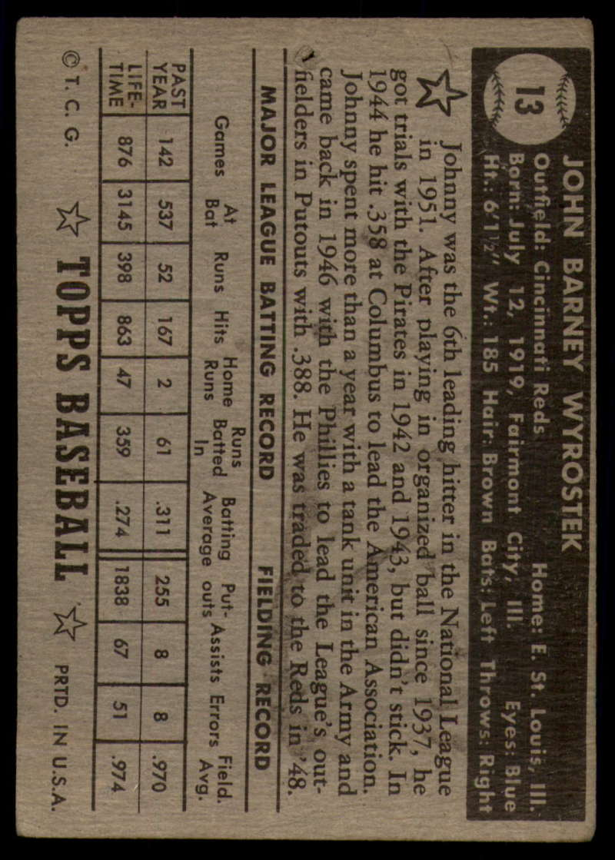 1952-Topps-Baseball-Black-Back-1-45-Complete-your-set-Pick-your-card thumbnail 63